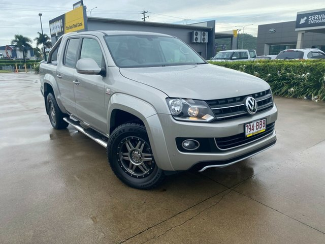 Used Volkswagen Amarok 2H MY13 TDI420 4Motion Perm Highline Townsville, 2013 Volkswagen Amarok 2H MY13 TDI420 4Motion Perm Highline Beige/270913 8 Speed Automatic Utility