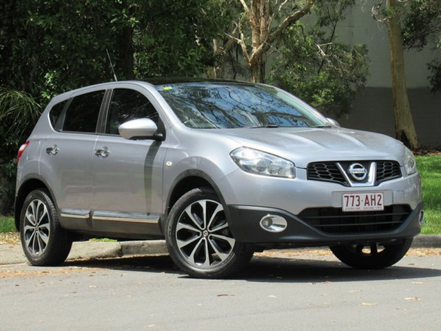 Used Nissan Dualis J10W Series 4 MY13 Ti-L Hatch X-tronic 2WD, 2013 Nissan Dualis J10W Series 4 MY13 Ti-L Hatch X-tronic 2WD Silver 6 Speed Constant Variable