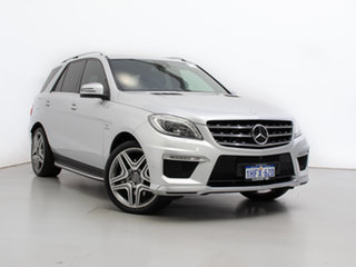 2014 Mercedes-Benz ML63 AMG 166 MY14 4x4 Silver 7 Speed Automatic Wagon.