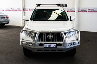 2015 Toyota Landcruiser Prado KDJ150R MY14 GXL (4x4) Glacier White 5 Speed Sequential Auto Wagon.