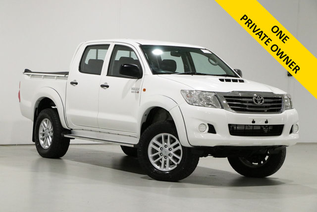 Used Toyota Hilux KUN26R MY14 SR (4x4) Bentley, 2015 Toyota Hilux KUN26R MY14 SR (4x4) White 5 Speed Manual Dual Cab Pick-up
