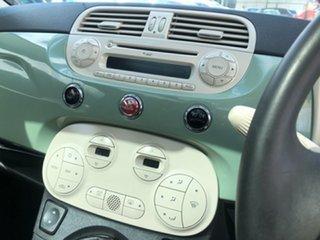 2008 Fiat 500 Series 1 Lounge Green 6 Speed Manual Hatchback