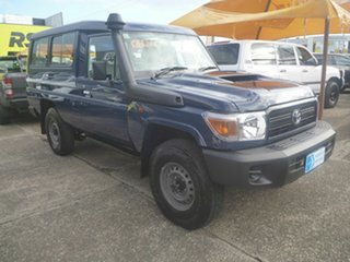 2021 Toyota Landcruiser VDJ78R Workmate Troopcarrier Blue 5 Speed Manual Wagon