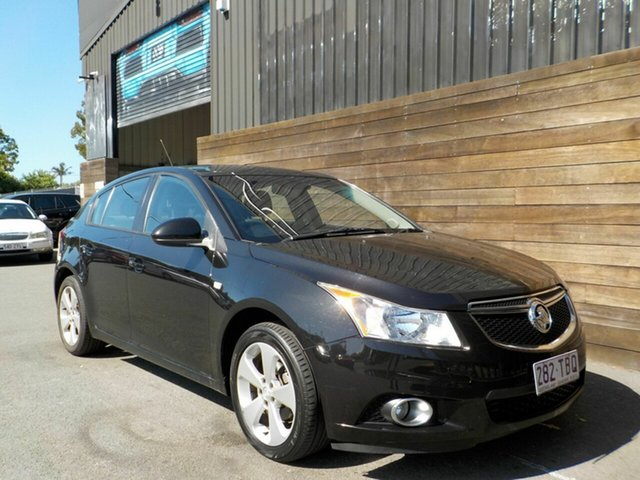 Used Holden Cruze JH Series II MY14 Equipe Labrador, 2013 Holden Cruze JH Series II MY14 Equipe Black 6 Speed Sports Automatic Hatchback
