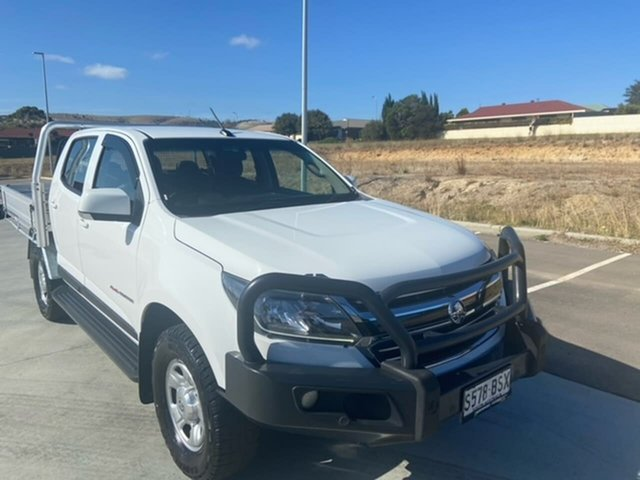 Used Holden Colorado RG MY17 LS Crew Cab Victor Harbor, 2017 Holden Colorado RG MY17 LS Crew Cab White 6 Speed Sports Automatic Cab Chassis