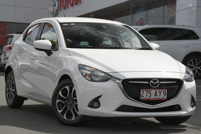 Pre-Owned Mazda 2 DJ2HAA Genki SKYACTIV-Drive Woolloongabba, 2014 Mazda 2 DJ2HAA Genki SKYACTIV-Drive White 6 Speed Sports Automatic Hatchback
