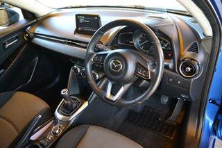 2019 Mazda 2 DJ Genki (5Yr) Dynamic Blue Mica 6 Speed Manual Hatchback.