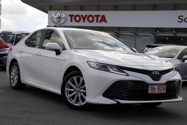 Pre-Owned Toyota Camry AXVH71R Ascent Upper Mount Gravatt, 2019 Toyota Camry AXVH71R Ascent White 6 Speed Constant Variable Sedan Hybrid