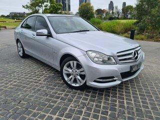 2012 Mercedes-Benz C-Class W204 MY12 C200 BlueEFFICIENCY 7G-Tronic + Silver 7 Speed Sports Automatic.
