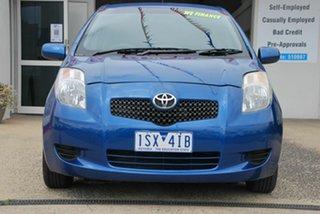 2007 Toyota Yaris NCP90R YR Blue 4 Speed Automatic Hatchback.