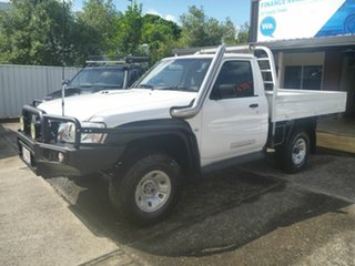 2012 Nissan Patrol GU 6 Series II DX White 5 Speed Manual Cab Chassis.