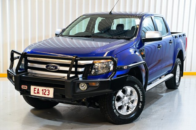 Used Ford Ranger PX XLS Double Cab Hendra, 2014 Ford Ranger PX XLS Double Cab Blue 6 Speed Manual Utility