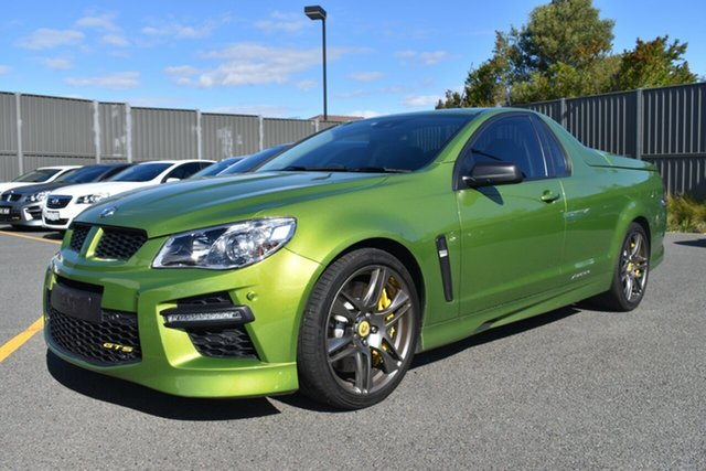 Used Holden Special Vehicles Maloo Gen-F MY15 GTS Wantirna South, 2014 Holden Special Vehicles Maloo Gen-F MY15 GTS Green 6 Speed Sports Automatic Utility