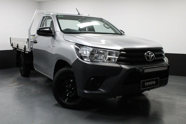 Used Toyota Hilux TGN121R Workmate 4x2 Cardiff, 2018 Toyota Hilux TGN121R Workmate 4x2 Silver 5 Speed Manual Cab Chassis