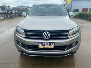 2013 Volkswagen Amarok 2H MY13 TDI420 4Motion Perm Highline Beige/270913 8 Speed Automatic Utility