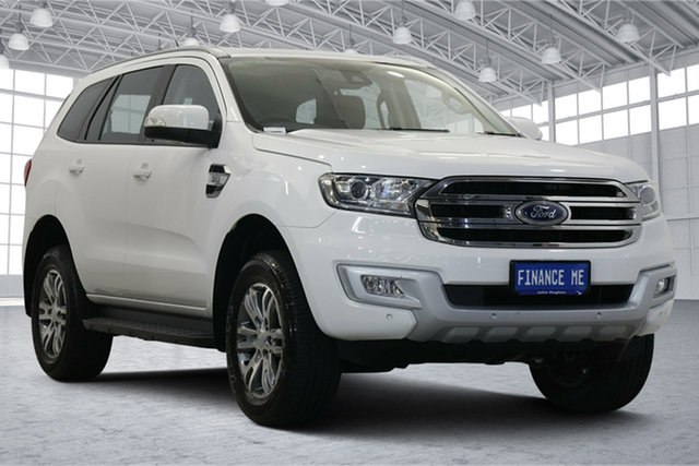 Used Ford Everest UA Trend Victoria Park, 2017 Ford Everest UA Trend White 6 Speed Sports Automatic SUV