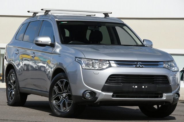 Used Mitsubishi Outlander ZJ MY14.5 Aspire 4WD Windsor, 2014 Mitsubishi Outlander ZJ MY14.5 Aspire 4WD Silver 6 Speed Sports Automatic Wagon