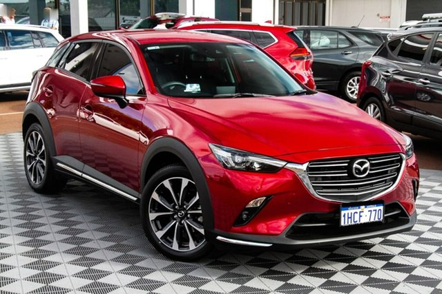Used Mazda CX-3 DK4W7A sTouring SKYACTIV-Drive i-ACTIV AWD Attadale, 2020 Mazda CX-3 DK4W7A sTouring SKYACTIV-Drive i-ACTIV AWD Red/Black 6 Speed Sports Automatic Wagon