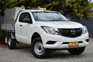 2017 Mazda BT-50 UR0YG1 XT Freestyle 4x2 Hi-Rider White 6 Speed Sports Automatic Cab Chassis.