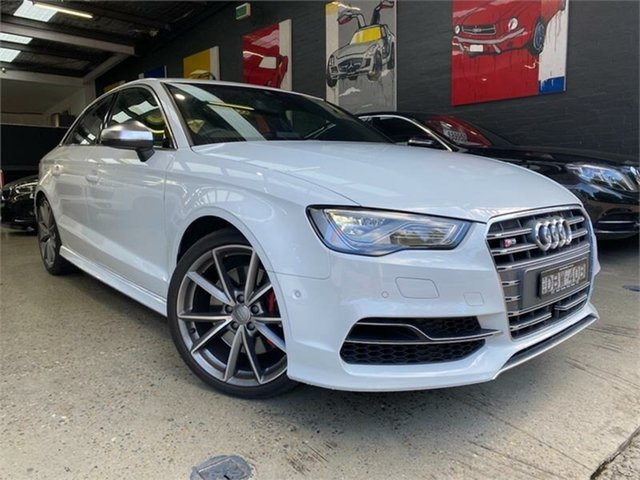 Used Audi S3 8V Glebe, 2015 Audi S3 8V White Sports Automatic Dual Clutch Sedan