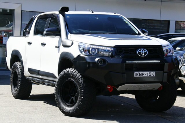 Used Toyota Hilux GUN126R Rugged X Double Cab Homebush, 2018 Toyota Hilux GUN126R Rugged X Double Cab White 6 Speed Sports Automatic Utility