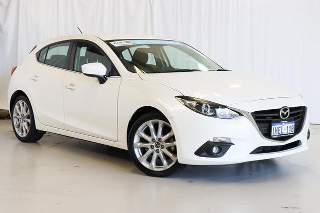 Used Mazda 3 BM5438 SP25 SKYACTIV-Drive Wangara, 2015 Mazda 3 BM5438 SP25 SKYACTIV-Drive White 6 Speed Sports Automatic Hatchback