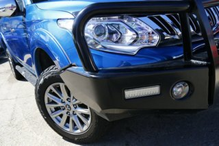 2015 Mitsubishi Triton MQ MY16 GLS Double Cab Blue 5 Speed Sports Automatic Utility.