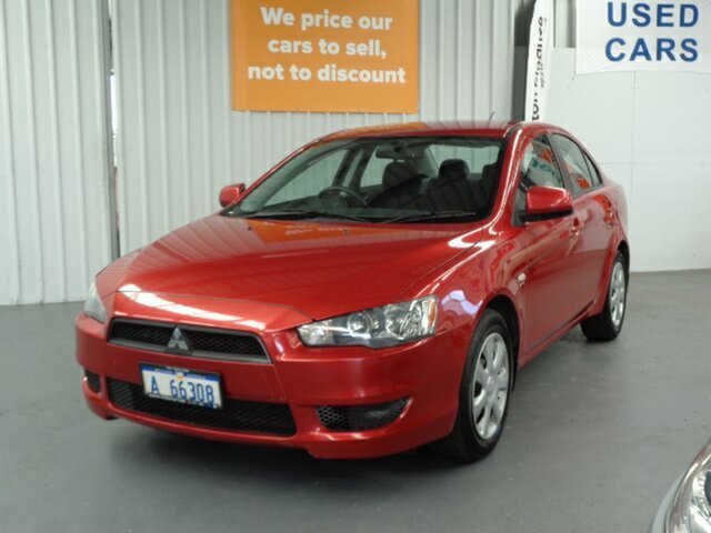 Used Mitsubishi Lancer CJ MY12 ES Rockingham, 2012 Mitsubishi Lancer CJ MY12 ES Red 6 Speed Constant Variable Sedan
