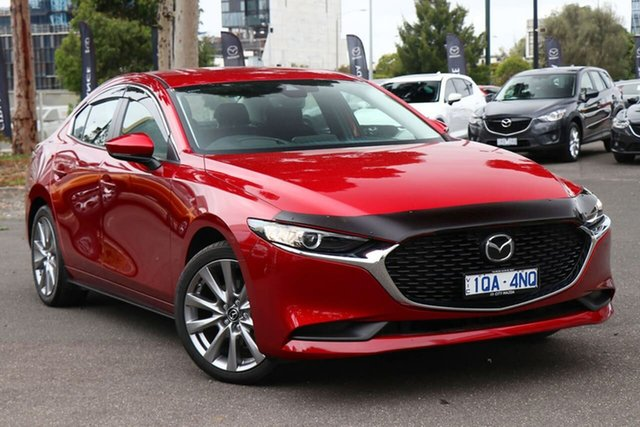 Used Mazda 3 BP2SLA G25 SKYACTIV-Drive Evolve South Melbourne, 2019 Mazda 3 BP2SLA G25 SKYACTIV-Drive Evolve Soul Red Crystal 6 Speed Sports Automatic Sedan