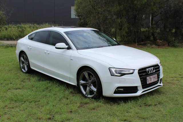 Used Audi A5 8T MY14 Sportback S Tronic Quattro Ormeau, 2014 Audi A5 8T MY14 Sportback S Tronic Quattro White 7 Speed Sports Automatic Dual Clutch Hatchback