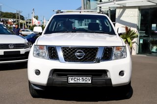 2014 Nissan Navara D40 S6 MY12 ST White 5 Speed Sports Automatic Utility