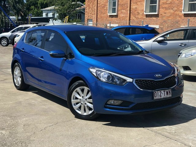 Used Kia Cerato YD MY14 SI Chermside, 2014 Kia Cerato YD MY14 SI Blue 6 Speed Sports Automatic Hatchback