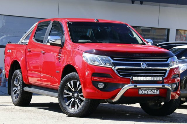 Used Holden Colorado RG MY17 LTZ Pickup Crew Cab Homebush, 2017 Holden Colorado RG MY17 LTZ Pickup Crew Cab Red 6 Speed Sports Automatic Utility