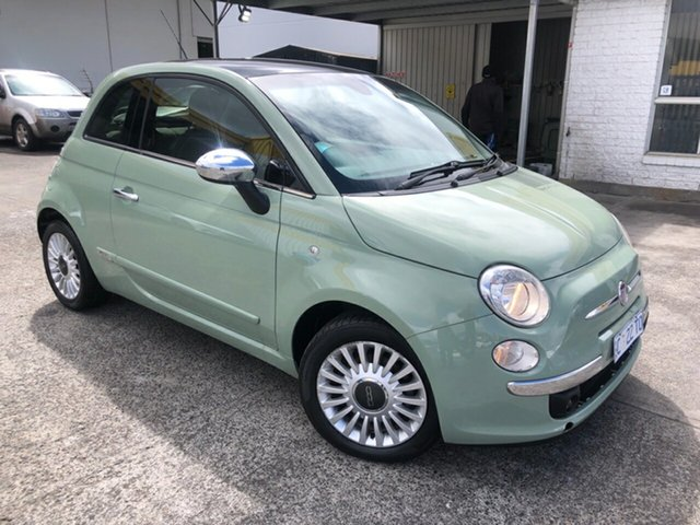 Used Fiat 500 Series 1 Lounge Derwent Park, 2008 Fiat 500 Series 1 Lounge Green 6 Speed Manual Hatchback