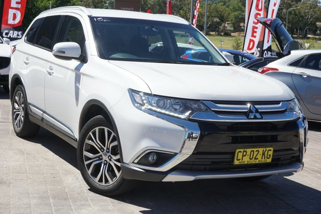 Used Mitsubishi Outlander ZK MY16 LS 2WD Phillip, 2016 Mitsubishi Outlander ZK MY16 LS 2WD White 6 Speed Constant Variable Wagon