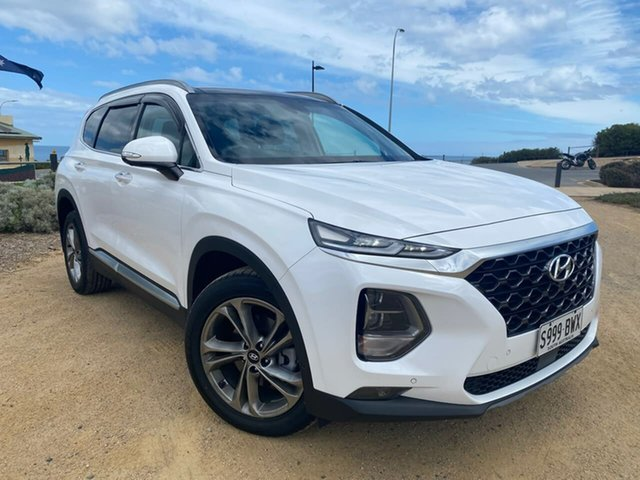 Used Hyundai Santa Fe TM MY19 Highlander Christies Beach, 2018 Hyundai Santa Fe TM MY19 Highlander White 8 Speed Sports Automatic Wagon