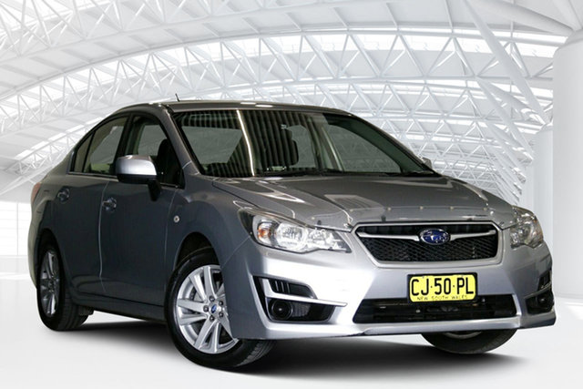 Used Subaru Impreza MY16 2.0I (AWD) Moorebank, 2016 Subaru Impreza MY16 2.0I (AWD) Silver Continuous Variable Sedan