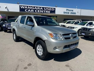 2006 Toyota Hilux GGN25R 06 Upgrade SR5 (4x4) Gold 5 Speed Manual Dual Cab Pick-up.