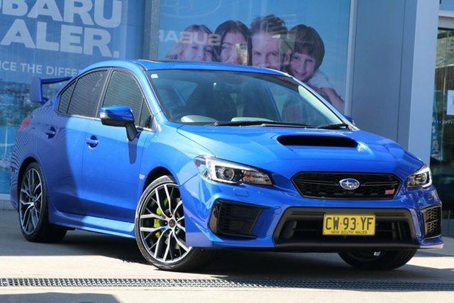 Used Subaru WRX V1 MY20 STI AWD Premium Rosebery, 2020 Subaru WRX V1 MY20 STI AWD Premium WR Blue 6 Speed Manual Sedan