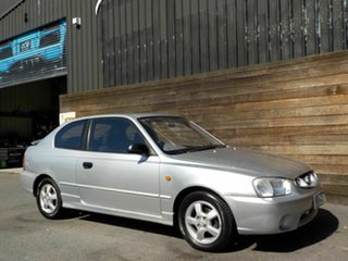2001 Hyundai Accent LC GS Silver 4 Speed Automatic Hatchback.