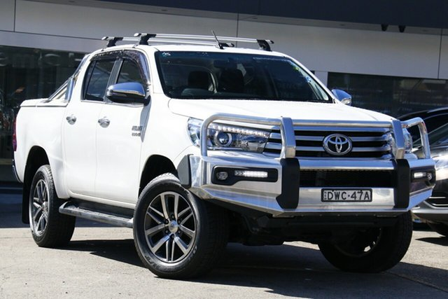 Used Toyota Hilux GUN126R SR5 Double Cab Homebush, 2018 Toyota Hilux GUN126R SR5 Double Cab White 6 Speed Sports Automatic Utility