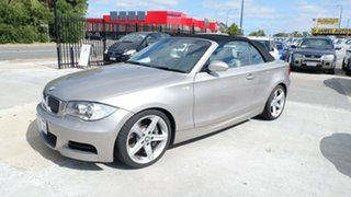2008 BMW 1 Series E88 135i Steptronic Silver 6 Speed Sports Automatic Convertible.