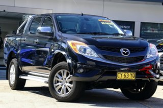 2015 Mazda BT-50 UR0YF1 GT Black 6 Speed Sports Automatic Utility.