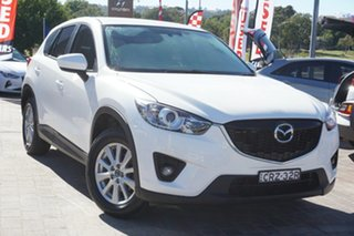 2014 Mazda CX-5 KE1071 MY14 Maxx SKYACTIV-Drive White 6 Speed Sports Automatic Wagon.