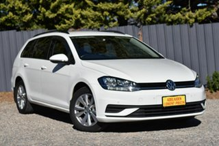 2018 Volkswagen Golf 7.5 MY18 110TSI DSG Trendline White 7 Speed Sports Automatic Dual Clutch Wagon.