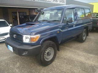 2021 Toyota Landcruiser VDJ78R Workmate Troopcarrier Blue 5 Speed Manual Wagon.