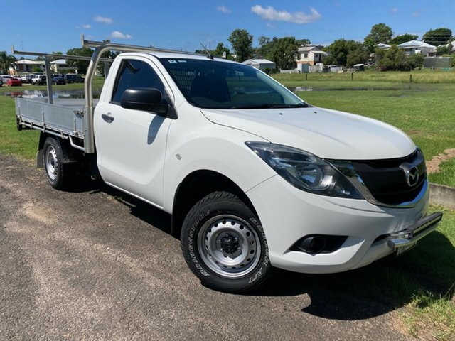 Pre-Owned Mazda BT-50 UR0YE1 XT 4x2 South Grafton, 2017 Mazda BT-50 UR0YE1 XT 4x2 White 6 Speed Manual Cab Chassis