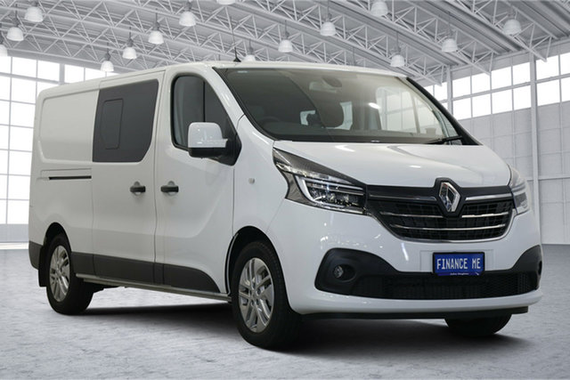 Used Renault Trafic X82 MY20 Crew Lifestyle Low Roof LWB EDC 125kW Victoria Park, 2019 Renault Trafic X82 MY20 Crew Lifestyle Low Roof LWB EDC 125kW White 6 Speed