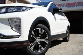 2018 Mitsubishi Eclipse Cross YA MY18 ES (2WD) White Continuous Variable Wagon.