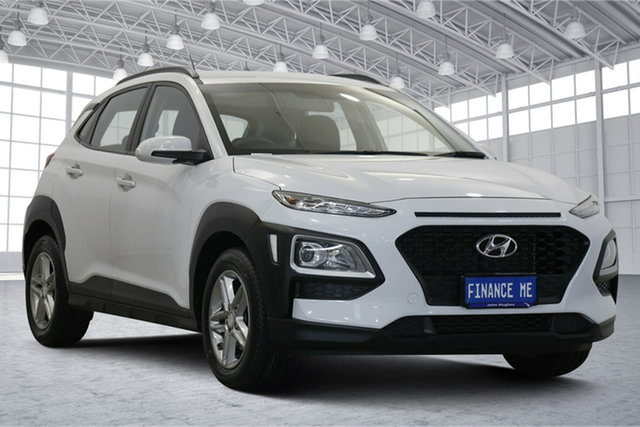 Used Hyundai Kona OS MY18 Active 2WD Victoria Park, 2018 Hyundai Kona OS MY18 Active 2WD White 6 Speed Sports Automatic Wagon